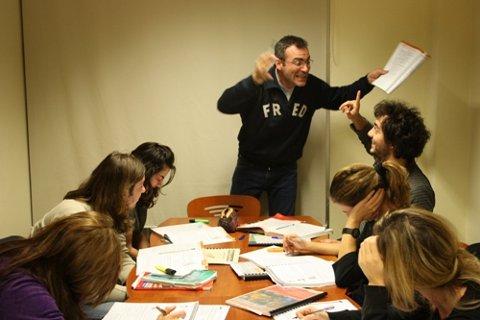 Αργύρης Χατζόπουλος με μαθητές επιπέδου Proficiency
